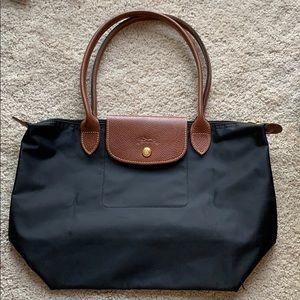 New Longchamp Le Pliage Handbag Black Medium Large